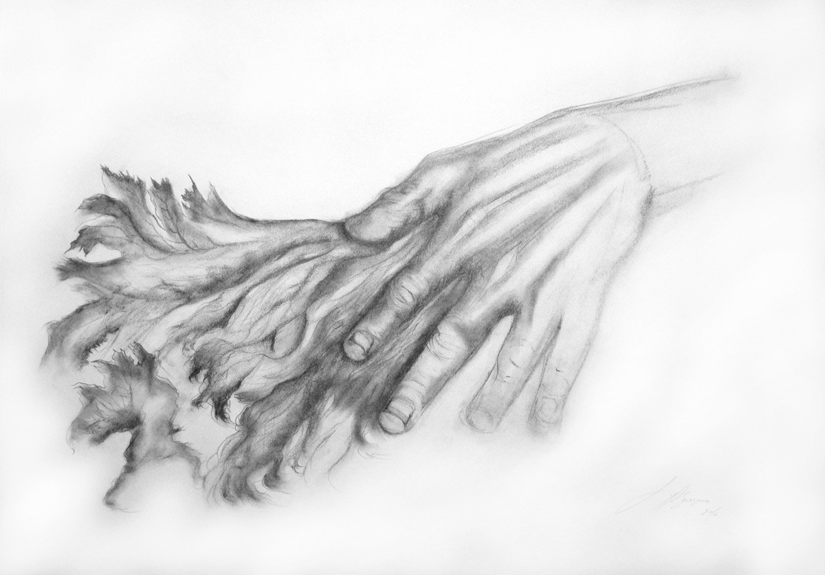 Hand Study for Feeling the Earth, 2016