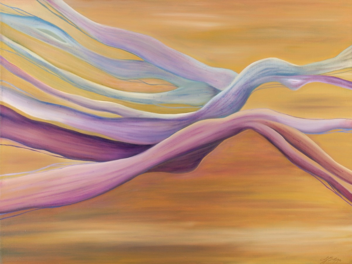 Love through time, 2008 oil on linen, 18 x 24 inches *in private collection