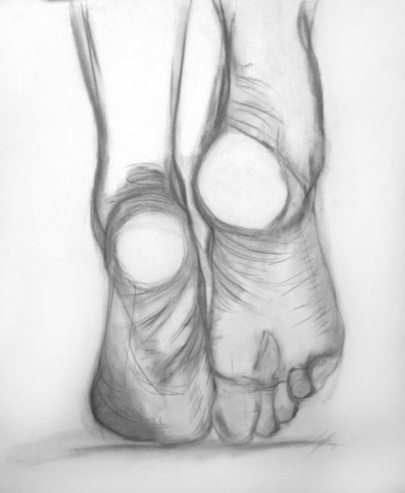 Ballerina Foot Study for Enduring Passion, 2016