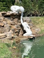 Nereid Concrete Waterfall Sculptures