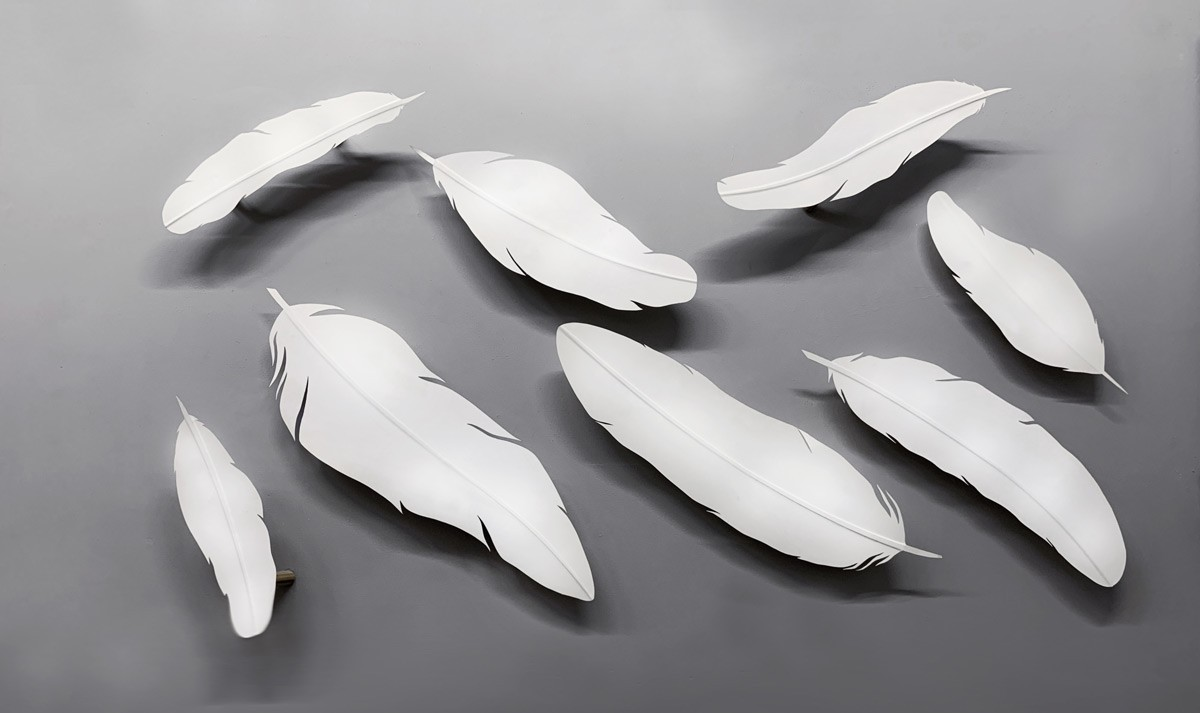 Paper Feather Video Mapping Installation
