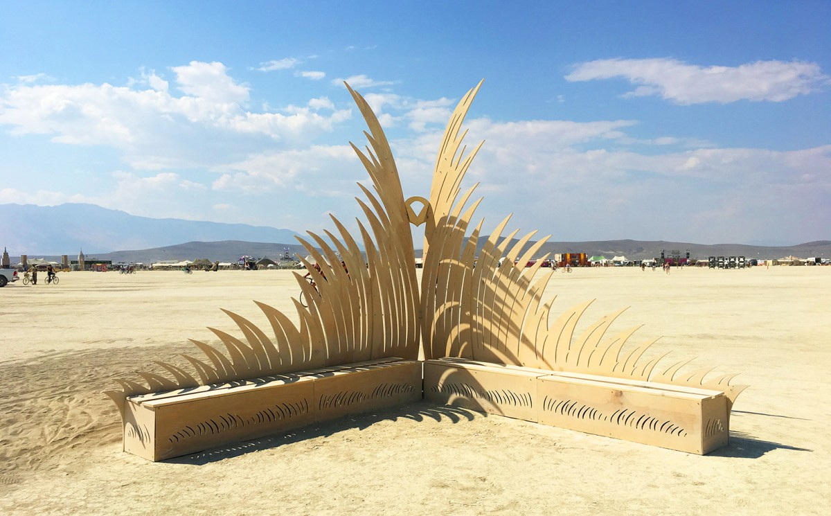 Transmigration Wood Sculpture Burning Man 2018