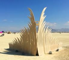 Transmigration Wood Sculpture Burning Man 2018