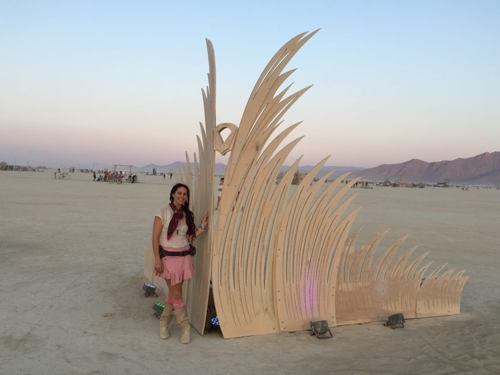 Jyl Bonaguro Burning Man Sculpture Transmigration