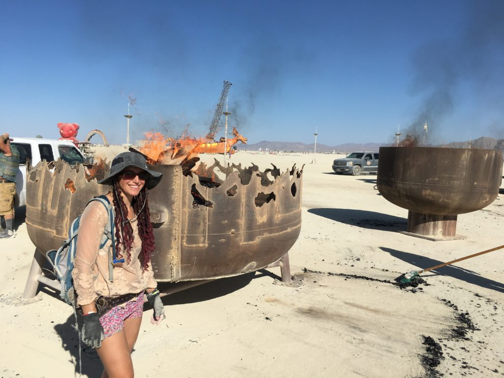 Jyl Bonaguro Burn Barrels Burning Man Sculpture Transmigration