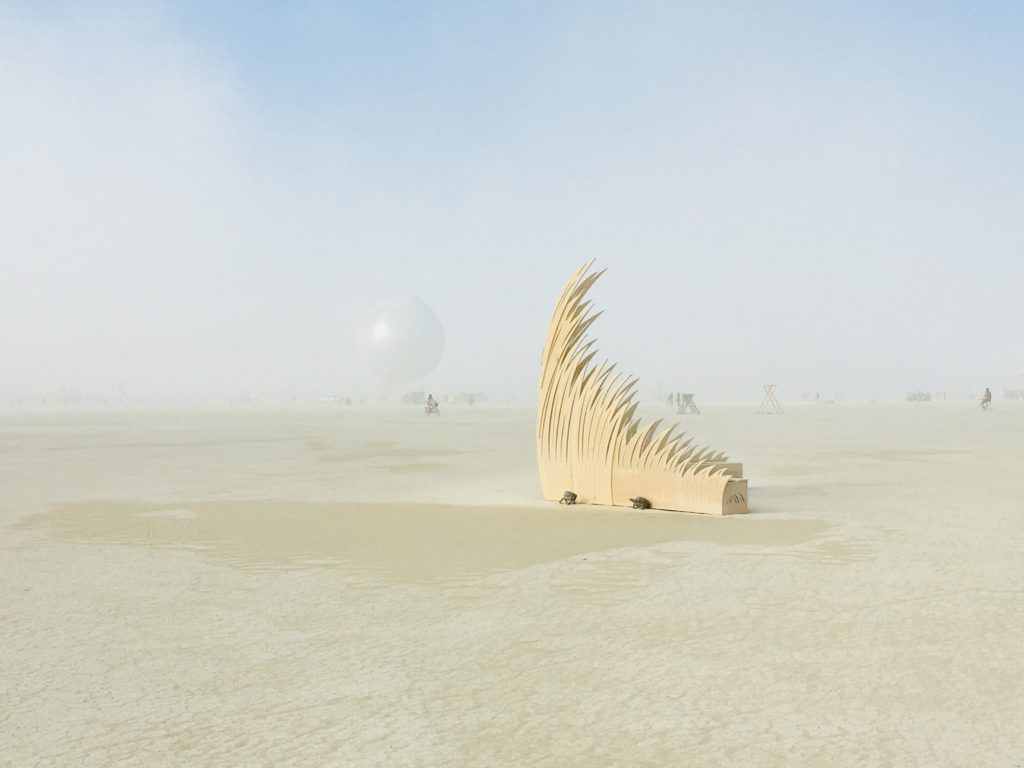 Jyl Bonaguro Burning Man Sculpture Transmigration Playa Location