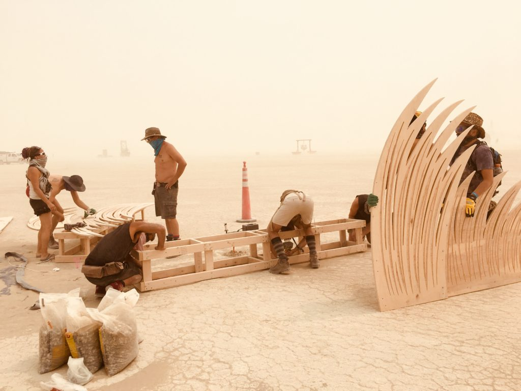 Jyl Bonaguro Burning Man Sculpture Transmigration Build