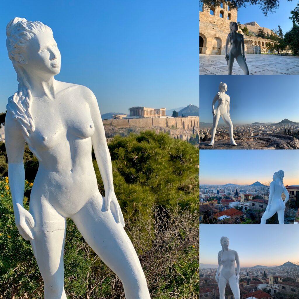 Athena Rising Over Athens Jyl Bonaguro