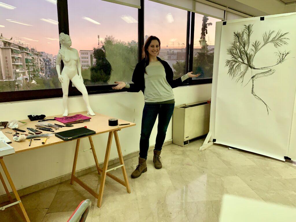 Athens Greece Artist Residency Jyl Bonaguro Athena Standards Residency studio