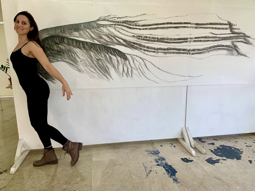 Athens Greece Artist Residency Jyl Bonaguro Wings Drawing Flight