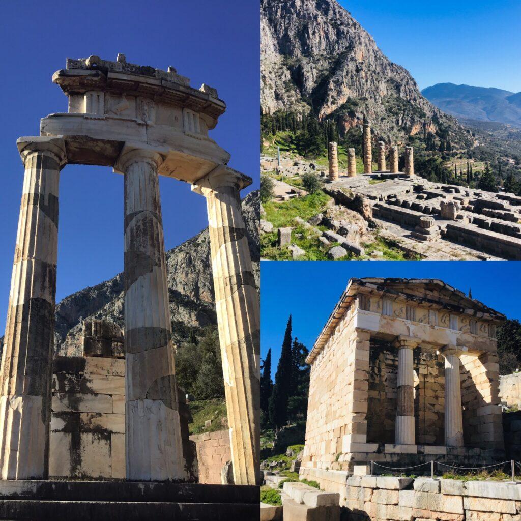 Temple Athena Delphi Greece Jyl Bonaguro