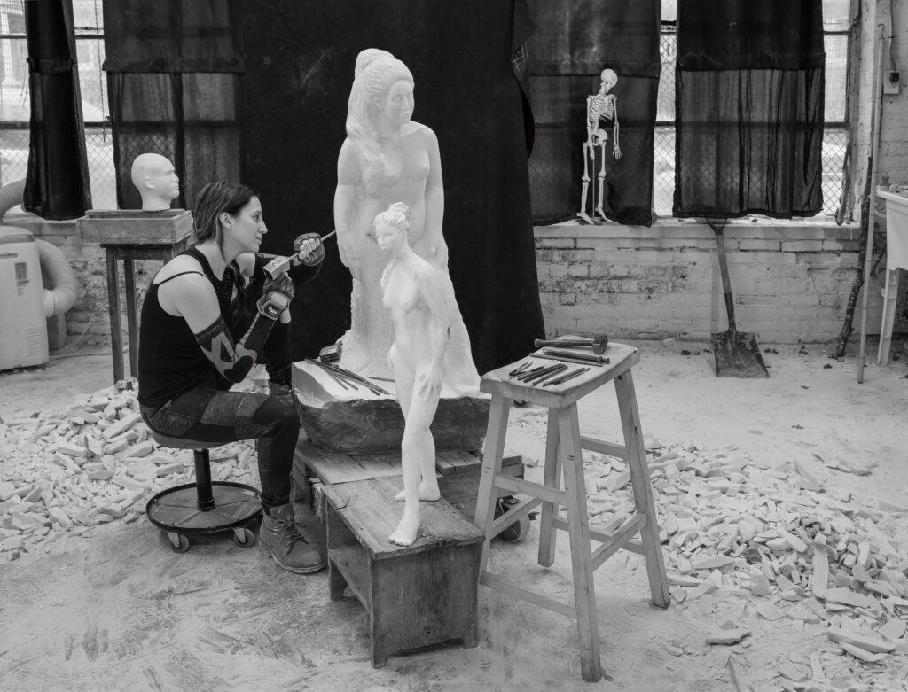 Modern Athena Monument Sculpture Donate Sculptor Artist Jyl Bonaguro